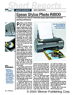 SR: Epson Stylus Photo RI800