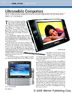 Cool Gear: Ultramobile Computers