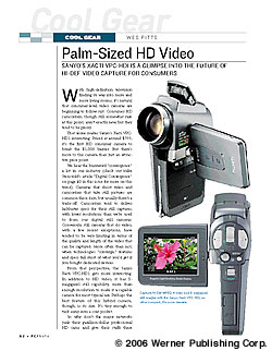 Cool Gear: Palm Sized HD Video