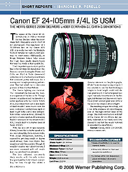 Short Report: Canon EF 24-105mm
