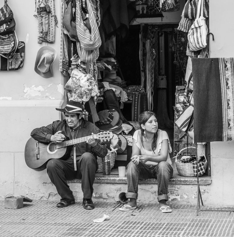 Andean Guitarrist
