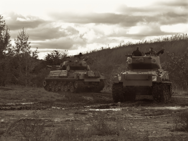 Shermans On Maneuvers