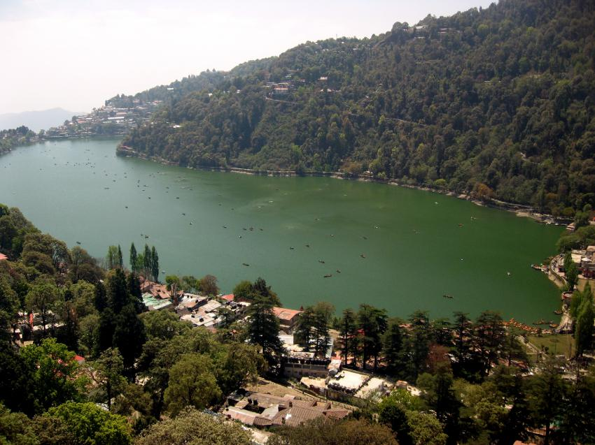 A BIRD'S EYE VIEW OF NAINITAL-INDIA