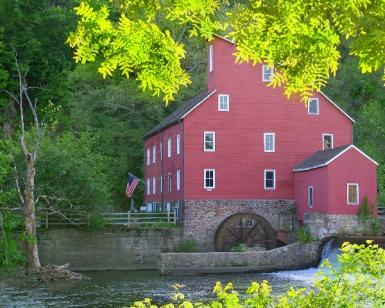 The Red Mill Framed
