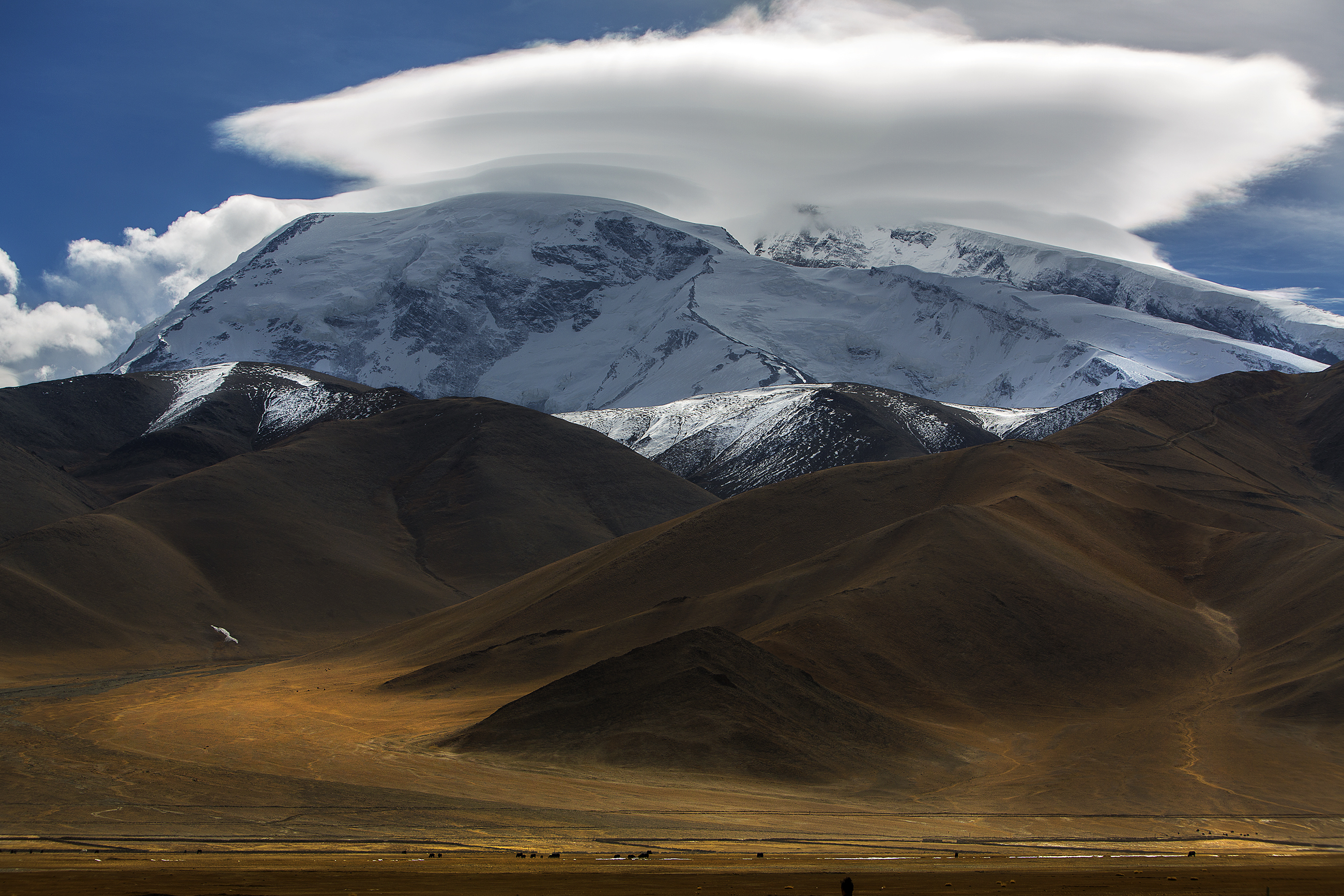 Lenticular Cloud on Snow Mountain