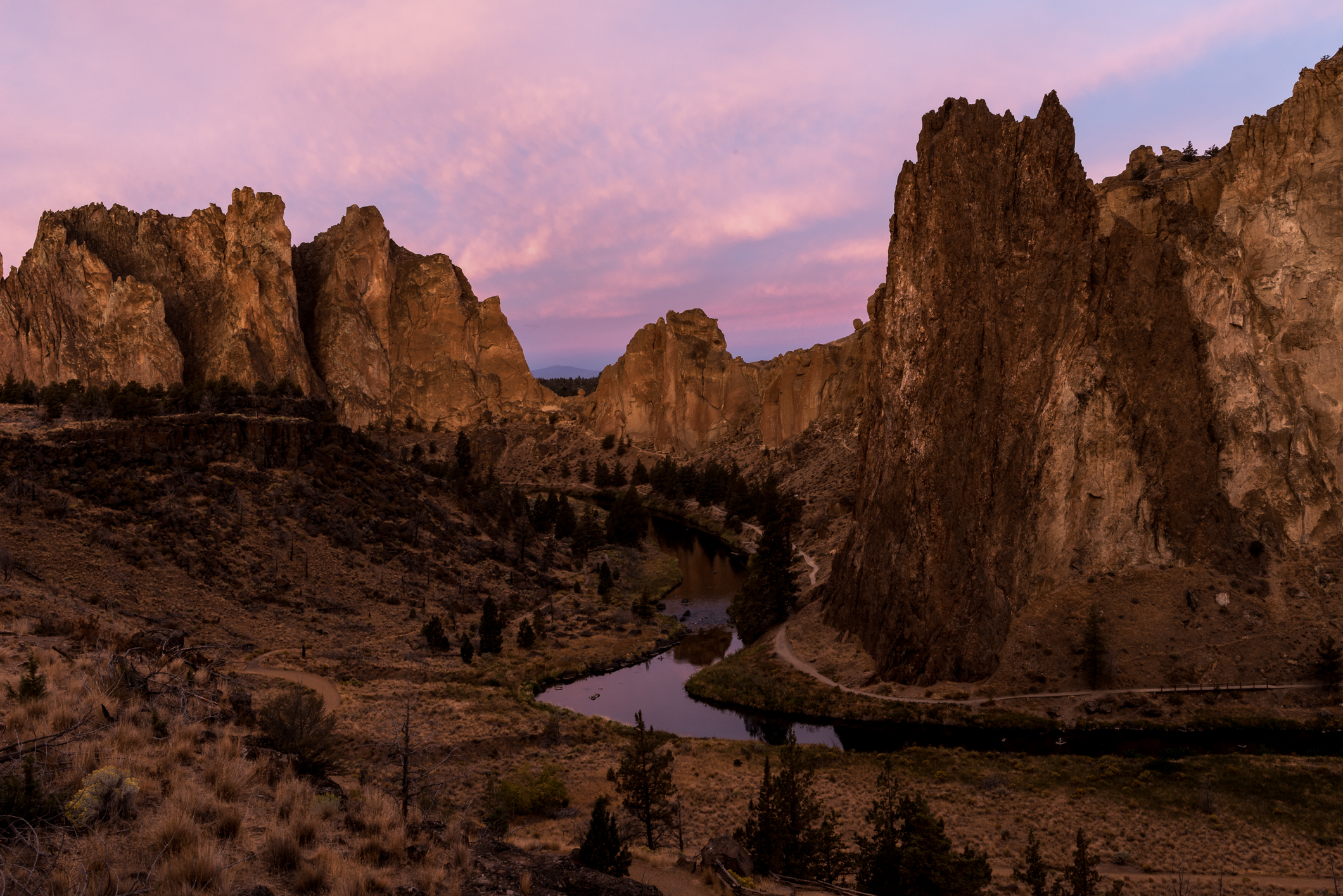 Smith Rock State Park at Dawn