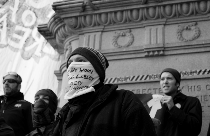 Addressing The Crowd At Occupy D.c.