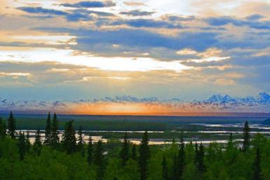 Alaskan Sunset  At 11 Pm