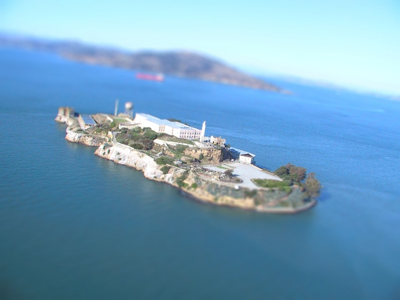 Alcatraz Island In 'Miniature'