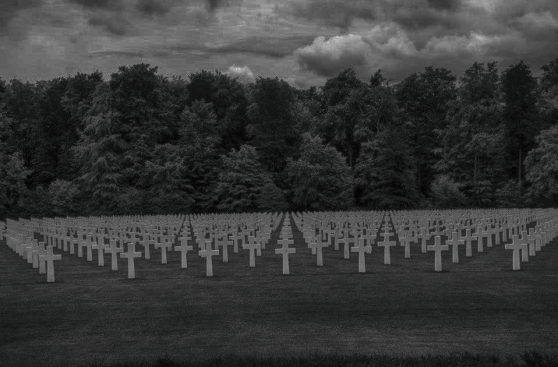 American Military Cemetery In Luxembourg