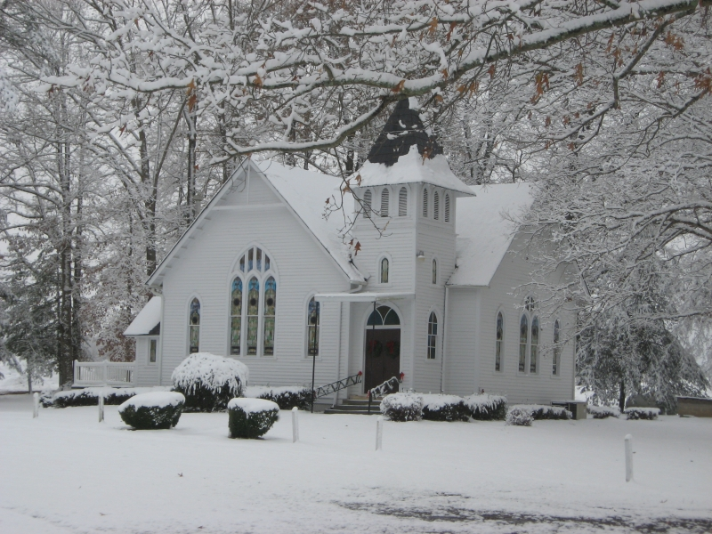 Bailey's Chapel In Winter