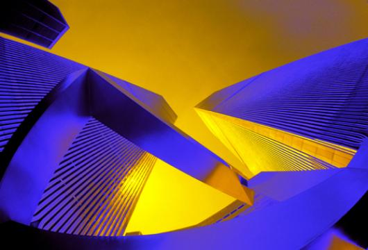 Blue And Gold Abstract