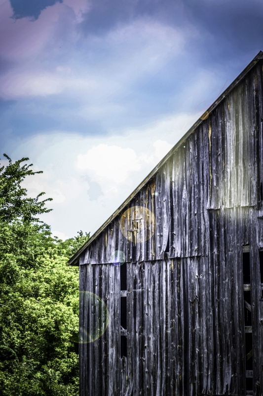 Blue Sky, Old Barn
