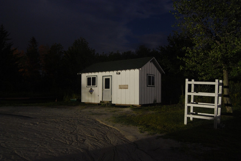 Boat House At Night