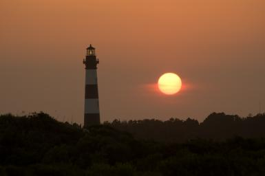 Bodie Lighthouse At Sunset