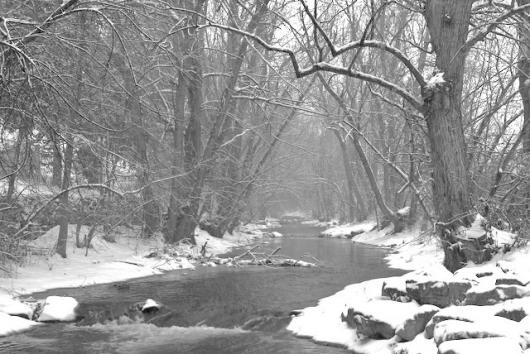 Boulder Creek In The Snow