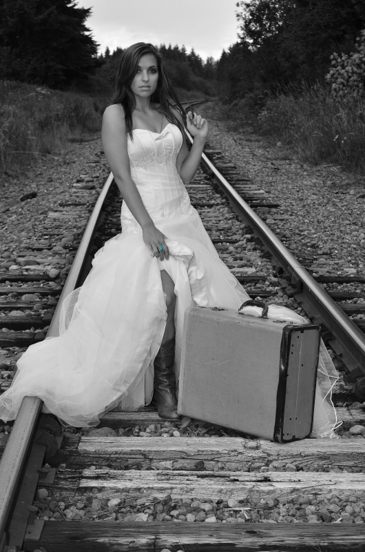 Bride In Boots On Track