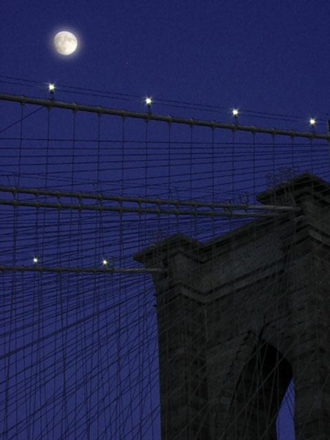 Brooklyn Bridge Moon