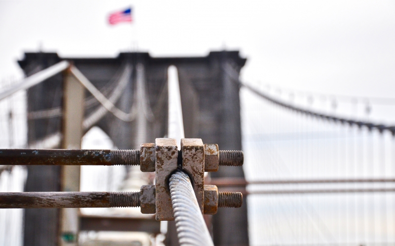 Brooklyn Bridge Cable Clamp