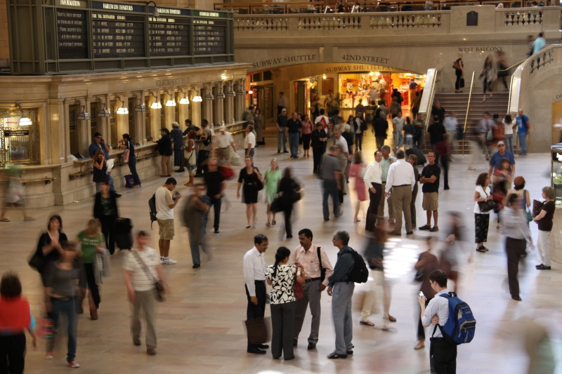 Busy Morning At Grand Central Station