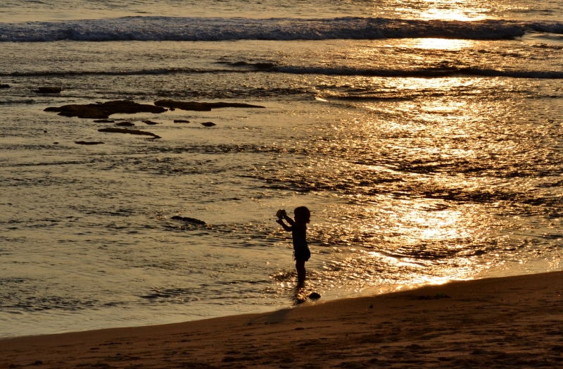 Child At Play Golden Sunset