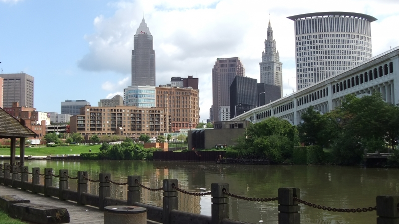 Cleveland From The River