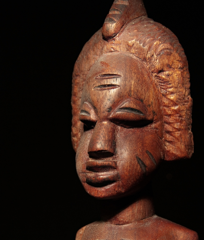 Close Up. African Woman Figure