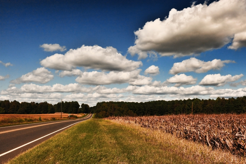 Clouds And Country Road