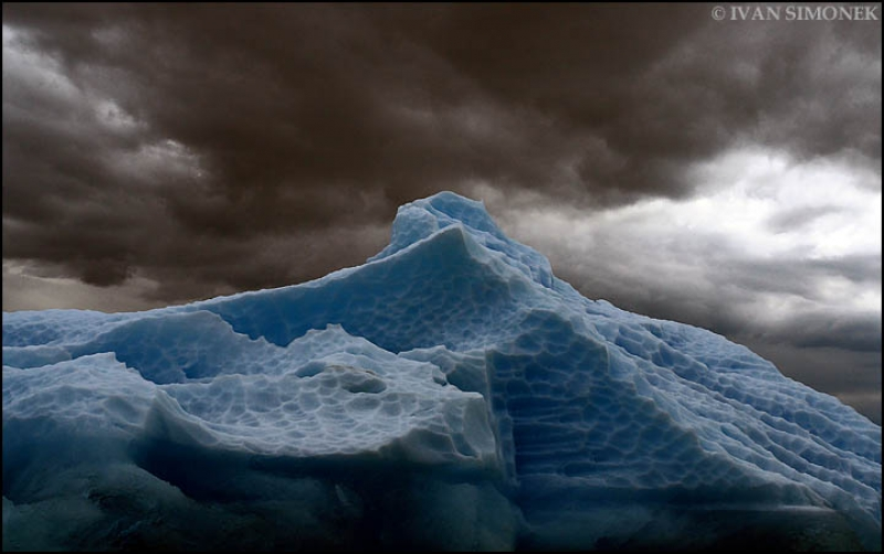 Clouds Over An Iceberg..