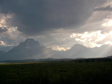 Cool Light On Grand Tetons