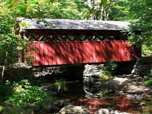 Covered Bridge At Chatfield Hollow