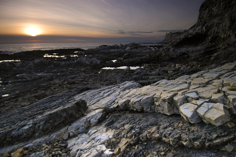Crumpled Rocks And Tidepools