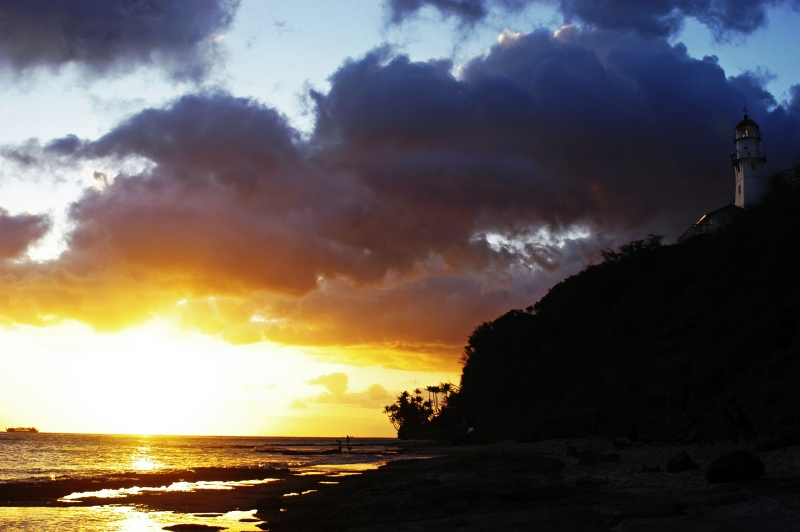 Diamond Head Beach Sunset 1