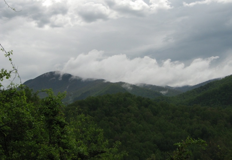 Eerie Clouds Over Cold Mountain
