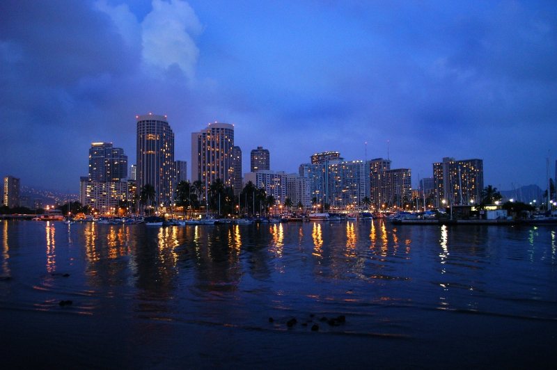 Evening On The Ala Wai