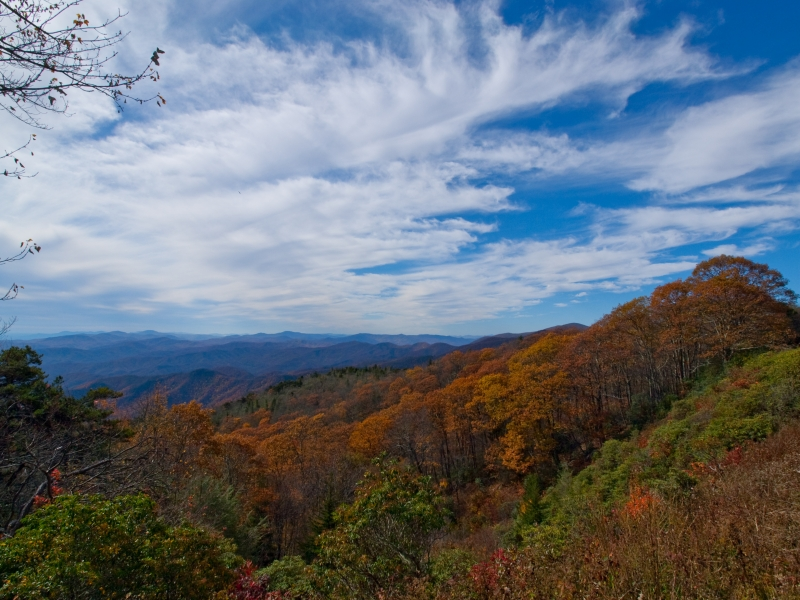 Fall Color Via Blue Ridge Parkway