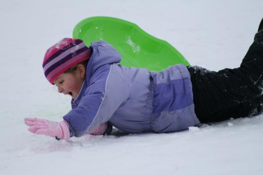 Falling Off Of Sled