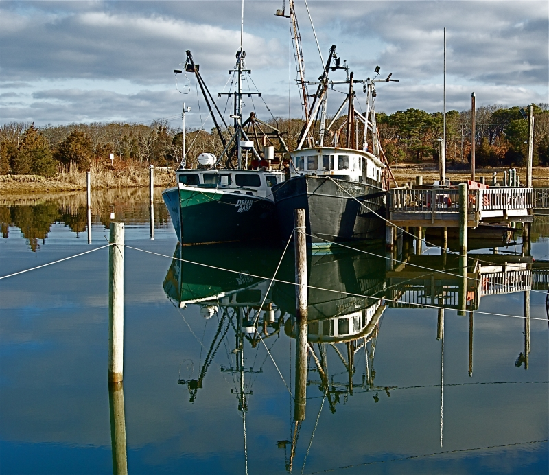 Fishing Boats Reflecting