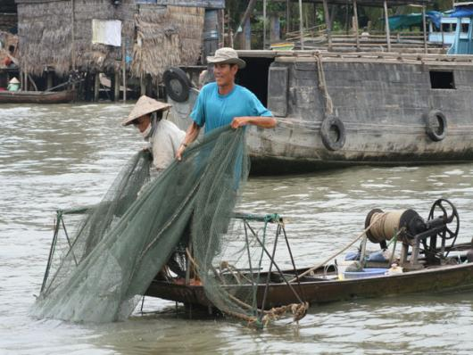 Fishing In The Mekong