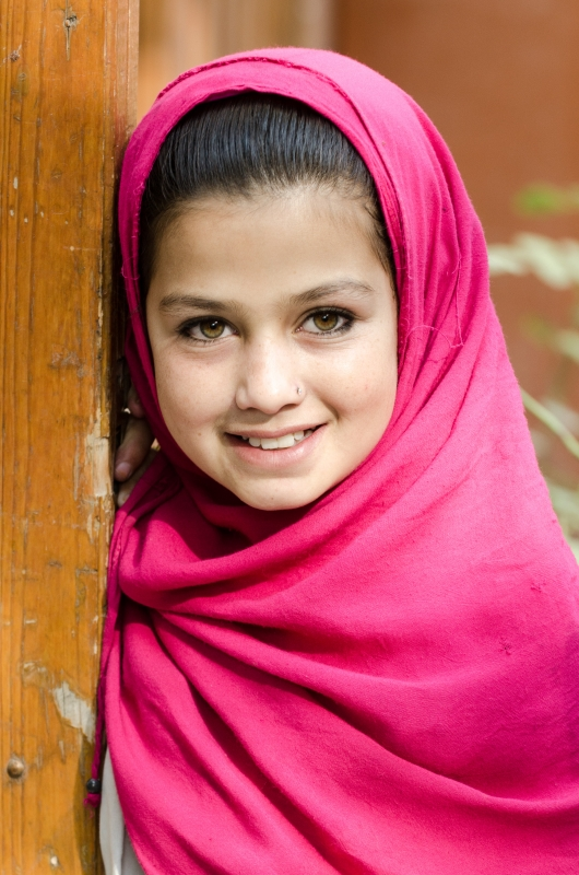 Girl At Afghan Women's Bazaar