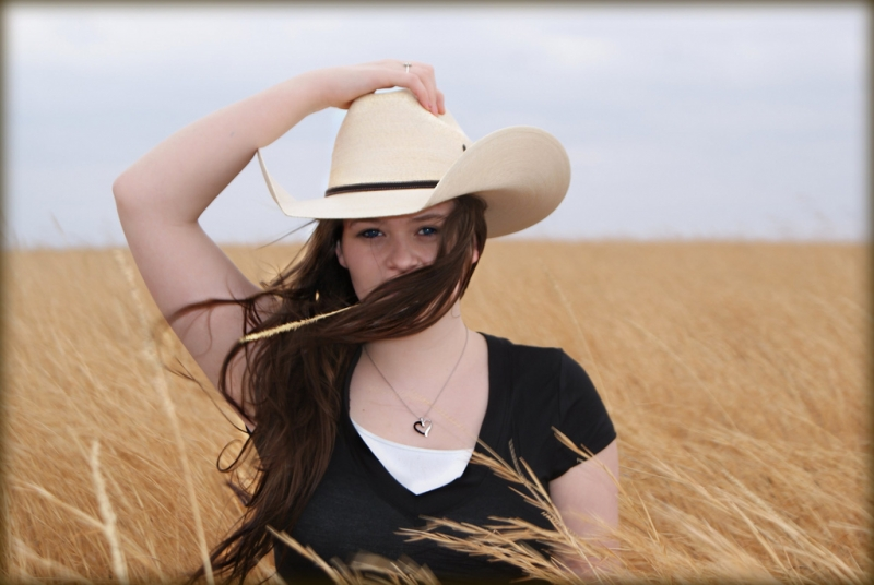 Girl On Oklahoma Prairie