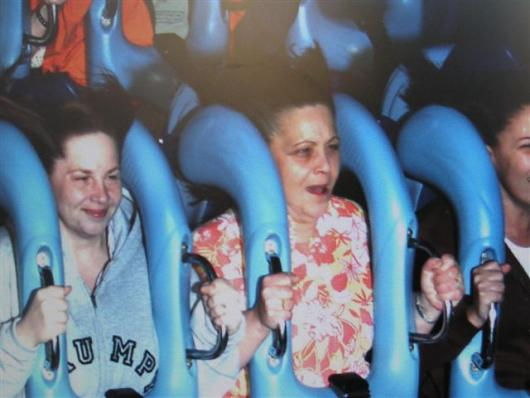 Grandmas First Roller Coaster..and Her Last!
