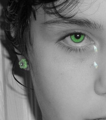 Green Eye Crying