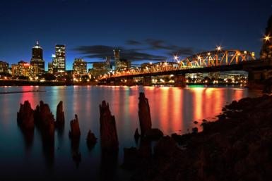 Hawthorne Bridge Long Exposure