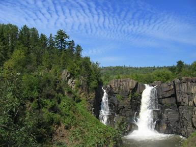 High Clouds Over High Falls