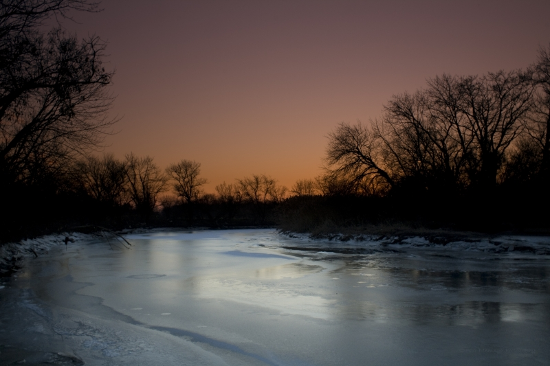 Icy Sunset Heinz Wildlife Refuge Philadelphia, Pa