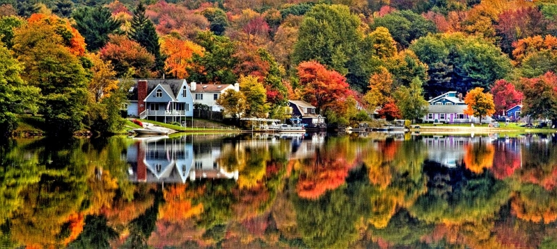Lake George In Autumn