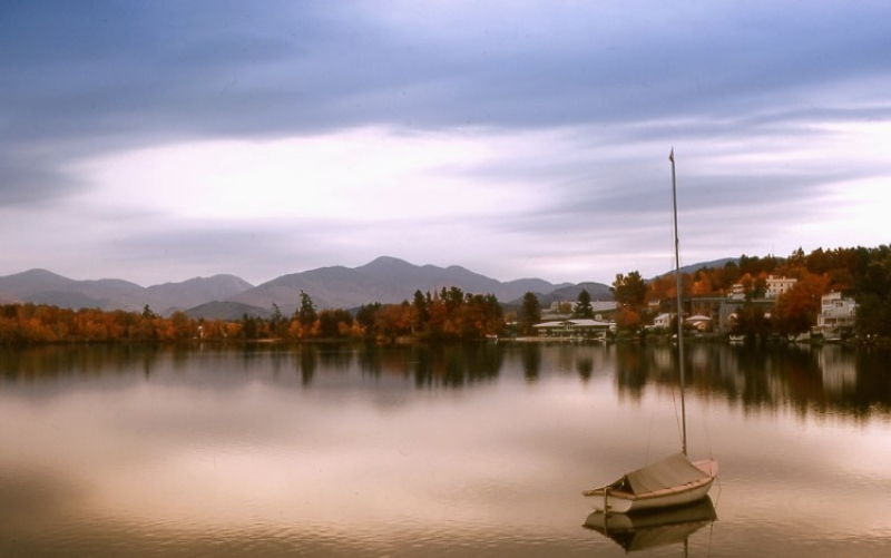 Lake Placid In Autumn