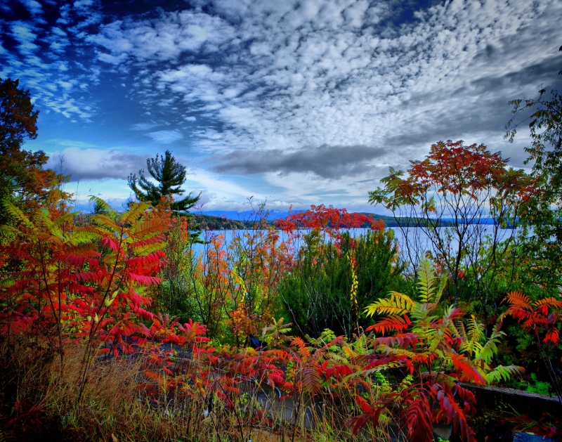 Lake Winnipesaukee Showing Its Colors