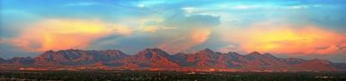 Mcdowell Mountains At Sunset